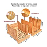 """Bamboo Bread Slicers with 9"""" Knife, Cutting Guide"""