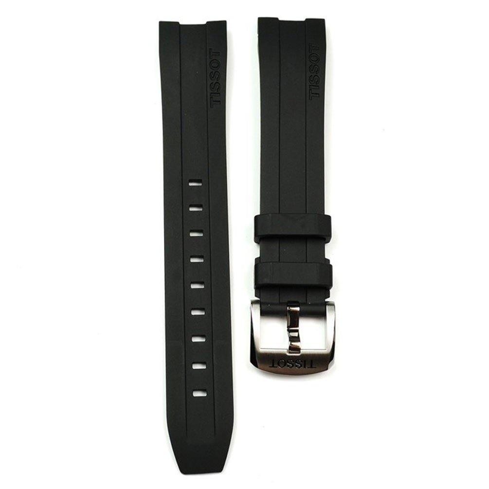 Tissot PRC 200 19mm Black Rubber Band Strap for Back-Case T055417A