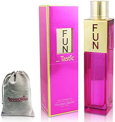 Funtastic Perfume for Women, 2.7 oz, Sexy, Exotic, Flirty, Fun, Clean Fragrance with a NovoGlow Suede Pouch Included