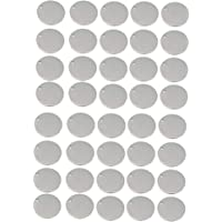 FITYLE 40 Pieces Christmas Hangings Wedding Hangers Round Stainless Steel Tag Findings Pet Identification Metal Blanks 20mm
