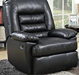 Serta Big & Tall Memory Foam Massage Recliner, Leather, Gray & Black With