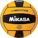 Mikasa W5009BLA Competition Game Ball, Black/Yellow, Size 4