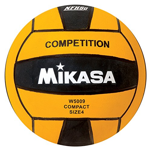 Mikasa W5009BLA Competition Game Ball, Black/Yellow, Size 4