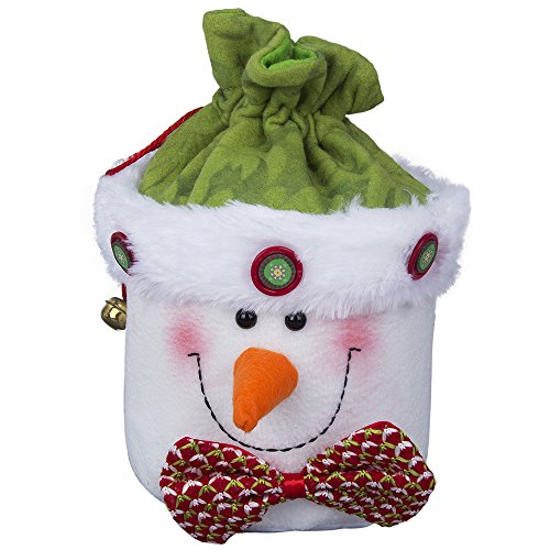 Snowman Drawstring Candy Bag (Tonsiki Snowman Drawstring Pouch Storage Bag Organizer for Christmas Holiday Gifts,Presents,Souvenir,Candy,Snacks,Arts & Crafts Projects(10 Inch x 9 Inch))