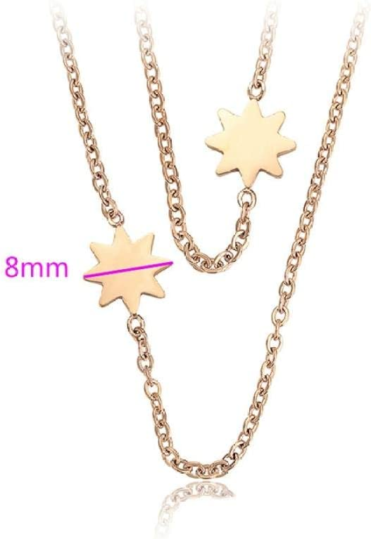 Necklace Pendant Exquisite Arrival Long Necklace Rose Gold Color Plated Necklace for Women Chain Jewelry Engagement Gift