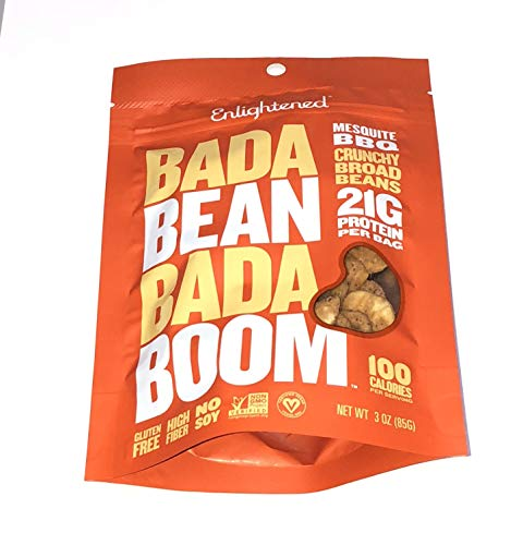 Enlightened Bada Bean Bada Boom Crunchy Broad Beans 3 oz - 6 Bags (BADA BEAN MESQUITE BBQ 3oz ()