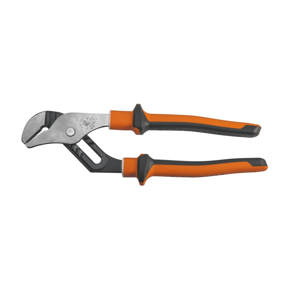 Electrician's Insulated Pump Pliers with Slim Handle, 10-Inch Klein Tools 502-10-EINS by Klein Tools