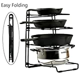 Pans and Pots Rack Lids Holder Detachable Kitchen Cabinet Organizer Stand