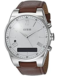 Men's Stainless Steel Connect Smart Watch - Amazon Alexa, iOS and Android Compatible, Color: Brown (Model: C0002MB1)