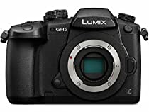 PANASONIC LUMIX GH5 Body 4K Mirrorless Camera, 20.3 Megapixels, Dual I.S. 2.0, 4K 422 10-bit, Full Size HDMI Out, 3 Inch Touch LCD, DC-GH5KBODY (USA Black)