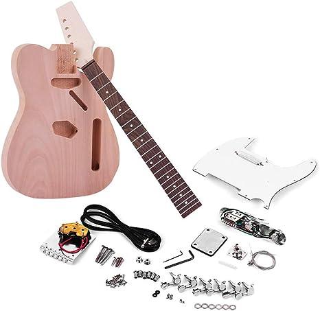 Muslady DIY Guitarra Electrica TL Tele Style Cuerpo de Caoba ...