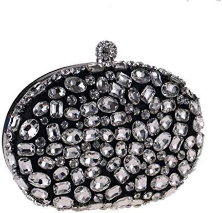 女性用ダイヤモンドアクリルクラッチバッグ、財布、ハンドバッグ、イブニングバッグ、(カラー:ブラック)調節可能ショルダーストラップ 美しいファッション