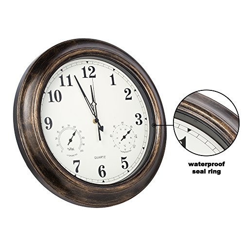 New skynature 18 inch waterproof large wall clock outdoor for Outdoor wall clocks sale