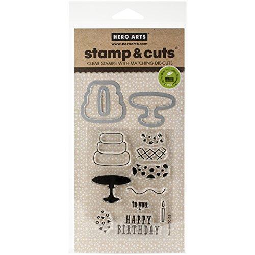 Birthday Stamp Set - Hero Arts DC125 Stamp & Cut, Birthday