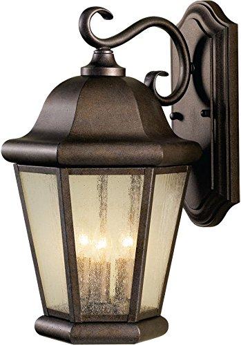 Feiss OL5902CB Martinsville Outdoor Patio Lighting Wall Lantern, Bronze, 3-Light (10