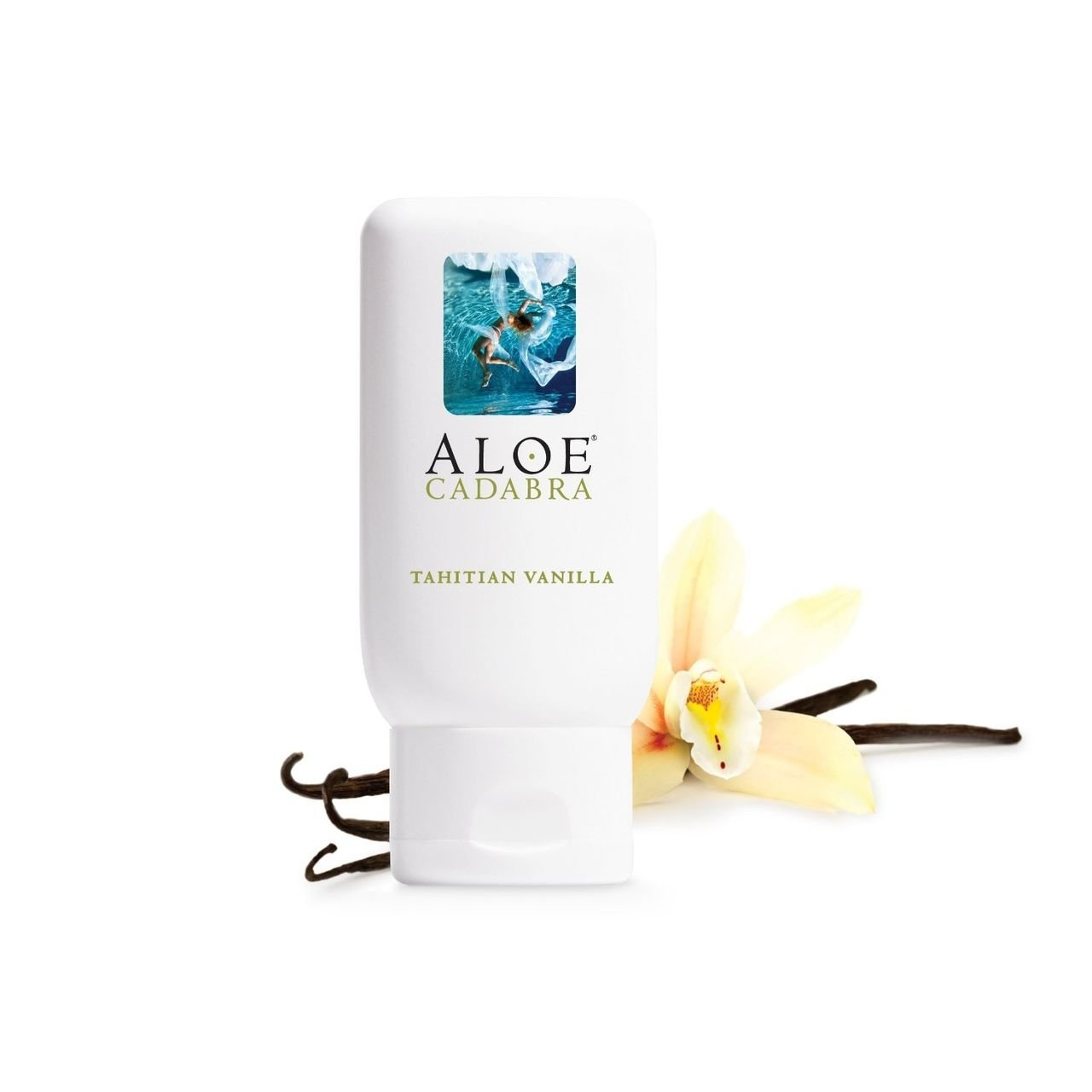 Aloe Cadabra Organic Personal Lubricant and Natural Vaginal Moisturizer with 95% Aloe Vera, Flavored Tahitian Vanilla, 2.5 Ounce