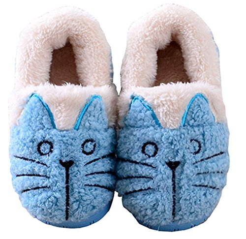 MiYang Winter Little Kid Cute Cat Warm House Slippers Bootie