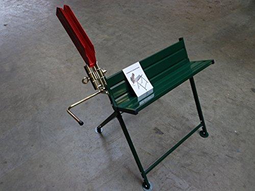 Sägebock Farbe grün mit Halterung für die Kettensäge Elektro oder Benzin, sicheres Arbeiten beim sägen