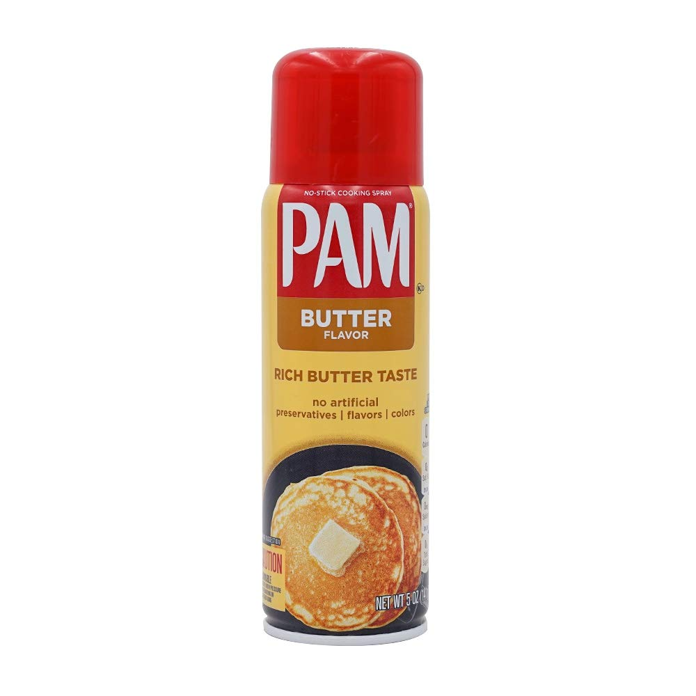 Pam Butter Flavor Cooking Spray, 5 oz