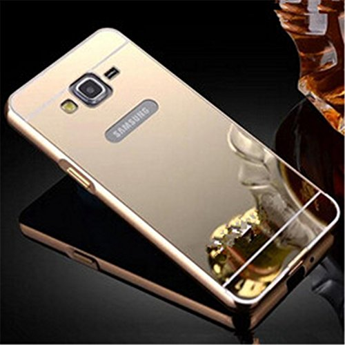 size 40 2a55f 67278 AE (TM) Luxury Metal Bumper + Acrylic Mirror Back Cover Case For SAMSUNG  GALAXY A7 GOLDEN PLATED