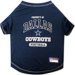 NFL DALLAS COWBOYS Dog T-Shirt, X-Large. - Cutest Pet Tee Shirt for the real sporty pup