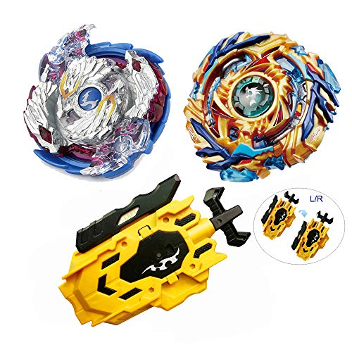 - Kids 2 PCS Battle Tops Blade Burst Bey Gyro Spinning Toys Boys Game With Booster L/R Launcher