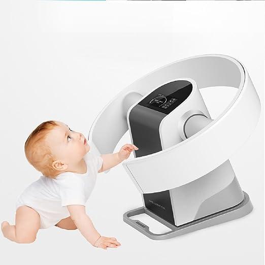 Ventilador sin aspas,Silencioso Nivel de Ruido no Ventilador para Niños Incluye Control Remoto-Blanco: Amazon.es: Hogar