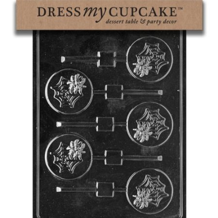Dress My Cupcake DMCH082 Chocolate Candy Mold, Spider