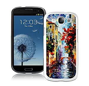 Samsung Galaxy S3 Case Durable Soft Silicone TPU Designer Painting Venice Art Designs White Cell Phone Case Cover
