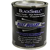 Rust Bullet BSQ BlackShell Rust Preventative and Protective Coating Paint, Two (2) 1 Quart Metal Can, Gloss Black