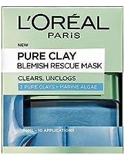 L'Oreal Paris lermasker, 3 rena Clays och Red Algae Glow