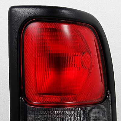 For Dodge Ram 1500/2500/3500 Pickup Truck Red Clear Tail Lights Brake Lamp Replacement Pair Left + Right: Automotive