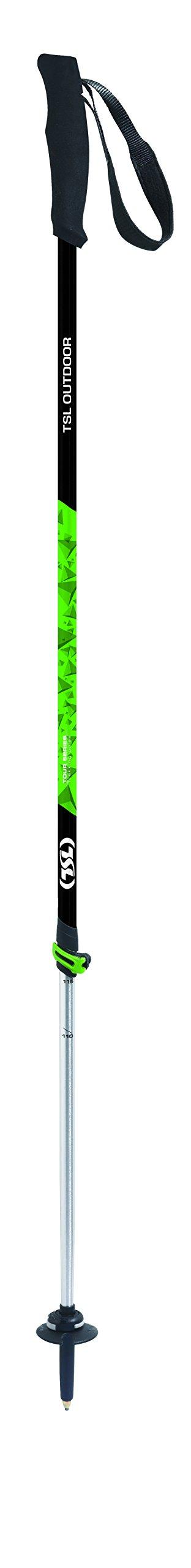 TSL Snowshoes Tour 2 Part Trekking Poles, Green & Black, 34 To 55'' by TSL Snowshoes