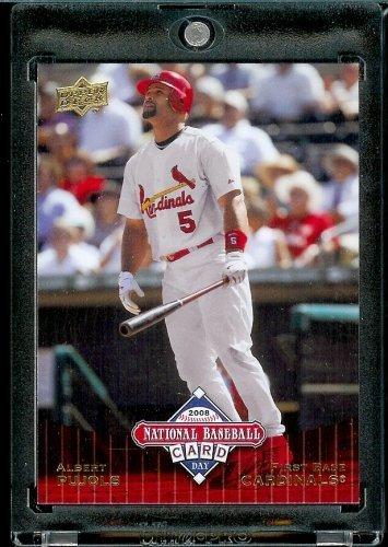 Albert Pujols Baseball - 2008 Upper Deck National Baseball Card Day # 11 Albert Pujols St Louis Cardinals - Promo Baseball Card