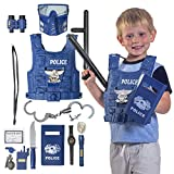 Kids Police Costume for Role Play 14 Pcs Police
