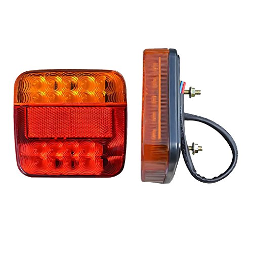 2pcs 12V 24V 20 LED Trailer Truck Van Caravan Lamp Light Stop Tail Indicator - Caravan Sizes Uk