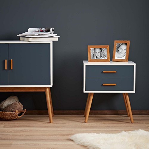 lomos no 5 beistellschrank aus holz mit 2 schubladen im. Black Bedroom Furniture Sets. Home Design Ideas
