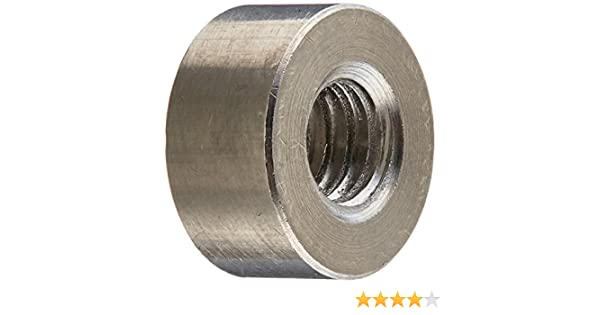 Stainless Steel 1//4-20 Screw Size Round Standoff 0.5 OD Female 1.875 Length, Pack of 5