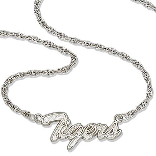 (Lex & Lu LogoArt Sterling Silver Louisiana State Univ Tigers Script Necklace)
