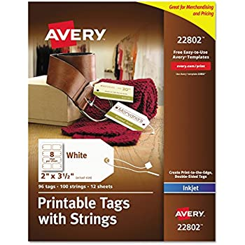 amazon com 60 printable cardstock square hang tags with holes 2 x
