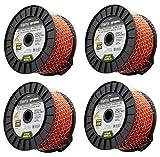 Master Mechanic 490-040-9019 819' ft x .095 Orange Line Trimmer Line - Quanity 4 Spools