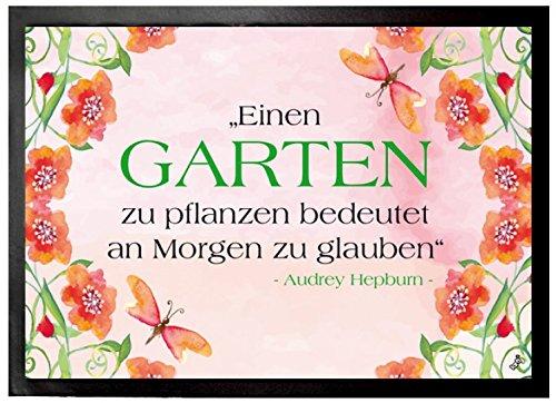 Audrey Hepburn Door Mat Floor Mat - Einen Garten Zu Pflanzen Bedeutet An Morgen Zu Glauben (28 x 20 inches)