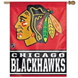 WinCraft NHL Chicago Blackhawks WCR00455014 Vertical Flag, 27″ x 37″, Black Review