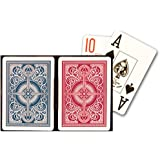 KEM Arrow Red and Blue, Poker Size-Jumbo Index Playing Cards