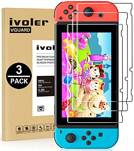 Protector pantalla vidrio templado Nintendo Switch pack 3