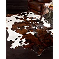A-STAR Genuine Cowhides Brown And White - Real Cowhide rug (5 x 5)