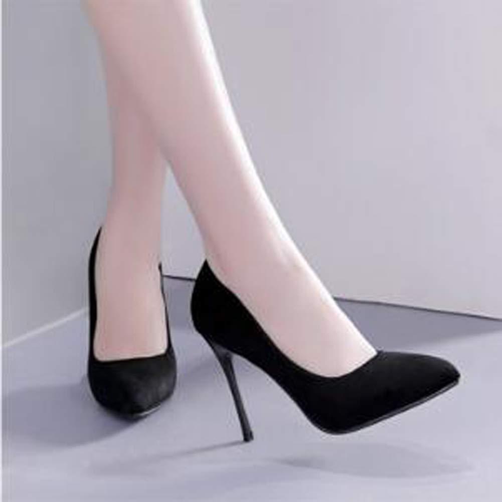 Frauen geschlossen Zehe High Heels Wildleder Ferse High Heels spitzen spitzen spitzen Mund Schuhe Hochzeit Prom Pumpen c9a87d