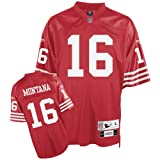 Reebok San Francisco 49ers Joe Montana Premier Throwback Jersey Large