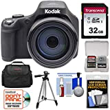 KODAK PIXPRO AZ901 90x Astro Zoom Digital Camera (Black) with 32GB Card + Case + Tripod + Kit