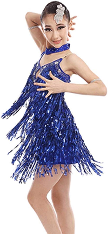 Uioy Trajes de baile latino - lentejuelas Falda de baile latino sexy ...
